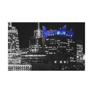 New York City Night Skyline Gallery Wrap Canvas