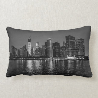 New York City Night Skyline Lumbar Cushion