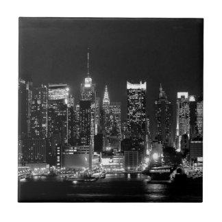 New York City Night Tile