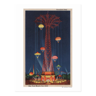 New York City, NY - Parachute Jump at World's Postcard