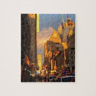 New York City NYC Broadway Theatre District Sun Puzzle