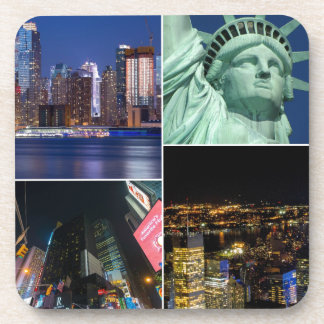 New York City NYC collage photo cityscape Beverage Coaster