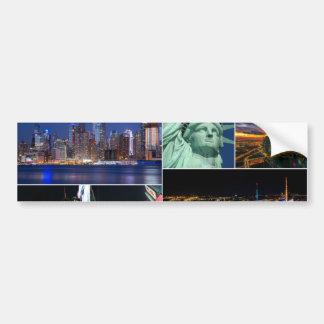 New York City NYC collage photo cityscape Bumper Sticker