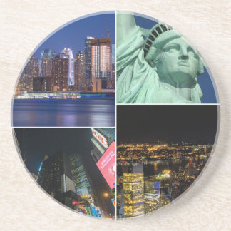 New York City NYC collage photo cityscape Coaster
