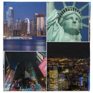 New York City NYC collage photo cityscape Napkin