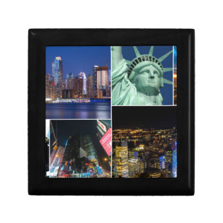 New York City NYC collage photo cityscape Small Square Gift Box