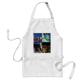 New York City NYC collage photo cityscape Standard Apron