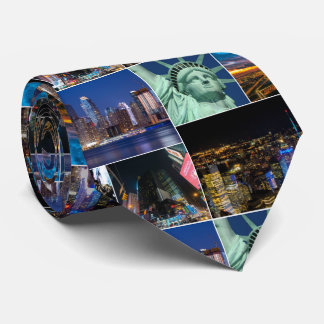 New York City NYC collage photo cityscape Tie