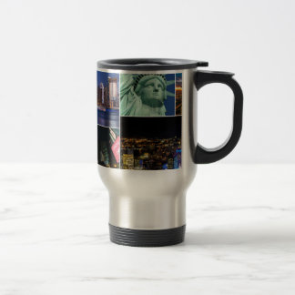 New York City NYC collage photo cityscape Travel Mug