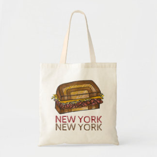 New York City NYC Deli Reuben Sandwich Food Tote