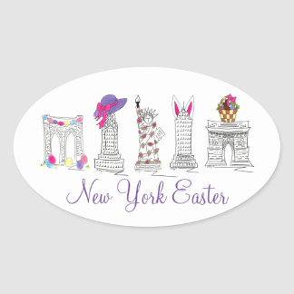 New York City NYC Easter Basket Bunny Eggs Sticker