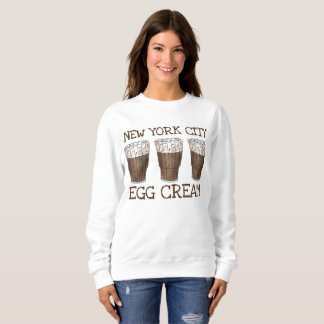 New York City NYC Egg Cream Eggcream Soda Fountain Sweatshirt