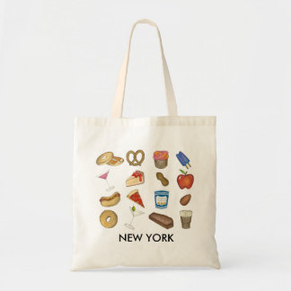 New York City NYC Foods Foodie Bagel Pretzel Tote