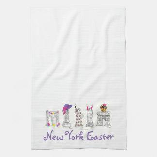 New York City NYC Landmarks Easter Towel