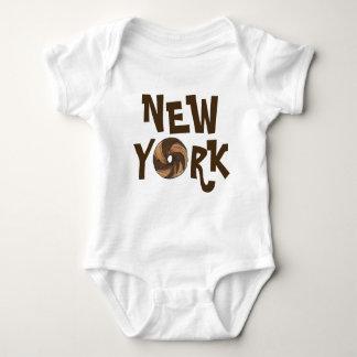 New York City NYC Marble Rye Bagel Bagels Foodie Baby Bodysuit
