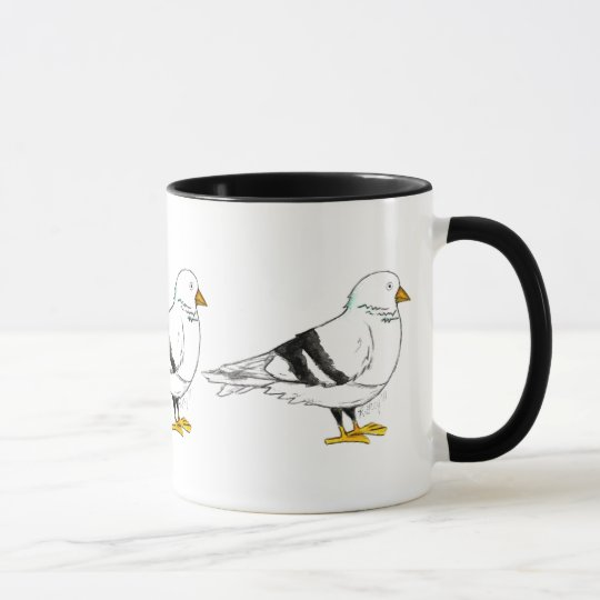 New York City NYC Pigeon Bird Mug