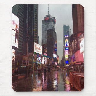 New York City NYC Rainy Times Square Photograph Mouse Pad