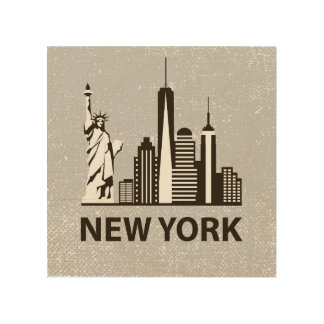 New York City | NYC Skyline Wood Print