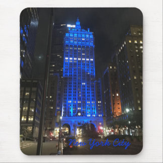 New York City NYC Skyscraper Architecture Night Mouse Pad