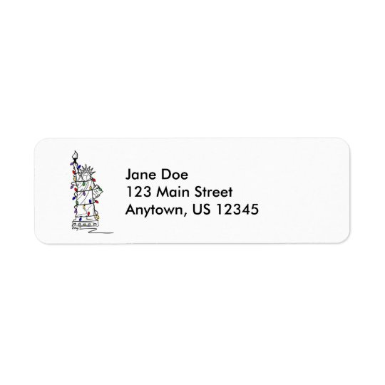 New York City NYC Statue Liberty Christmas Labels