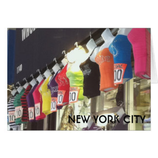 New York City NYC Wholesale District Clothing Sale Card