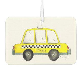 New York City NYC Yellow Taxi Checkered Cab Car Car Air Freshener