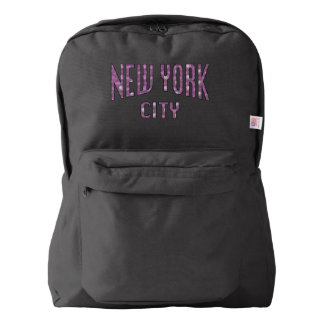 New York City on Spring Pink Rose Backpack