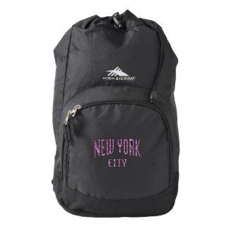 New York City on Spring Pink Rose Backpack