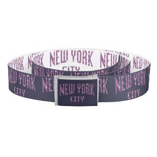 New York City on Spring Pink Rose Belt