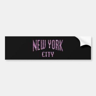 New York City on Spring Pink Rose Bumper Sticker
