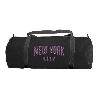 New York City on Spring Pink Rose Gym Bag