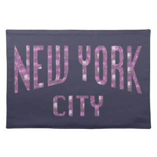 New York City on Spring Pink Rose Placemat