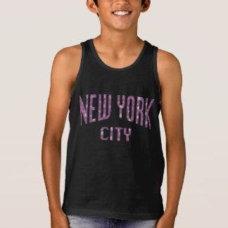 New York City on Spring Pink Rose Singlet