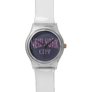 New York City on Spring Pink Rose Watch