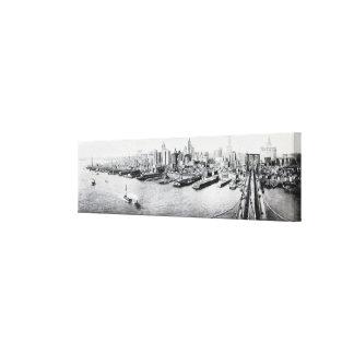 New York City Panorama Photograph (1918) Gallery Wrap Canvas