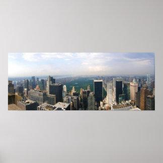 """New York City Panoramic Skyline 19"""" x 13"""" Poster"""