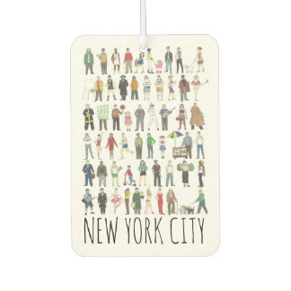 New York City People of NYC Brooklyn Queens Bronx Car Air Freshener