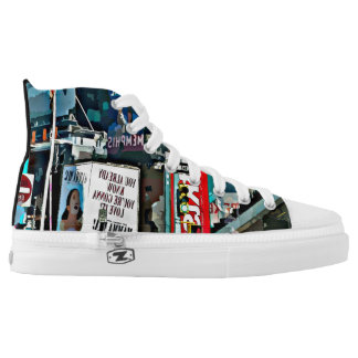 New York City Photograph High Top Shoes Printed Shoes