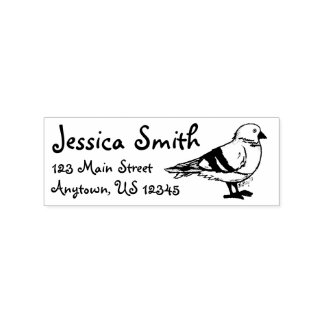 New York City Pigeon Bird Gull Seagull Address Rubber Stamp