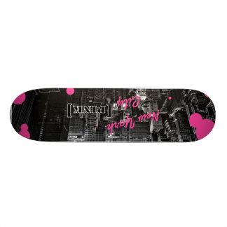 new york city pink skateboard deck