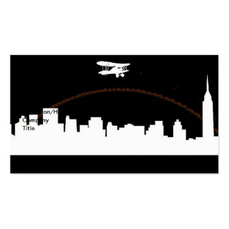 New York City Poster Black Business Cards