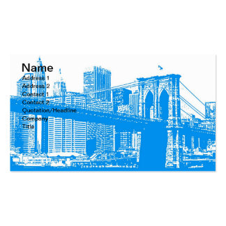New York City Poster Pack Of Standard Business Cards
