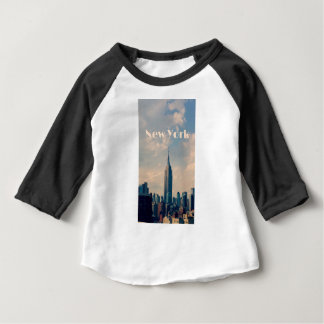 "New York City Print "" I love New York"" Baby T-Shirt"