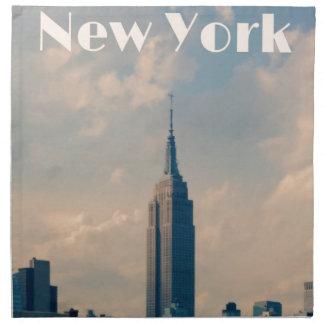 "New York City Print "" I love New York"" Napkin"