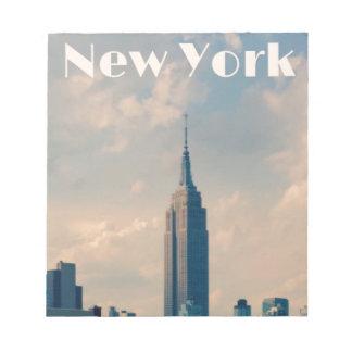 "New York City Print "" I love New York"" Notepad"