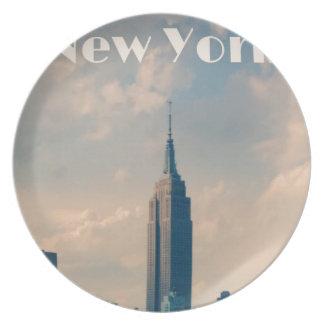 "New York City Print "" I love New York"" Plate"