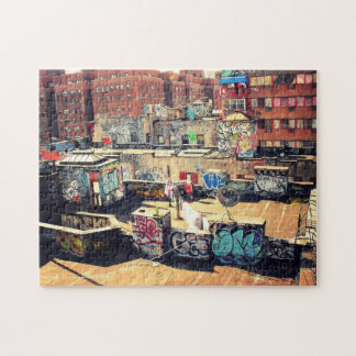 New York City Puzzle -  Chinatown Rooftop Graffiti
