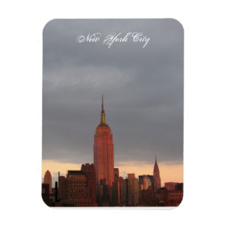 new york city red empire state building rectangular photo magnet