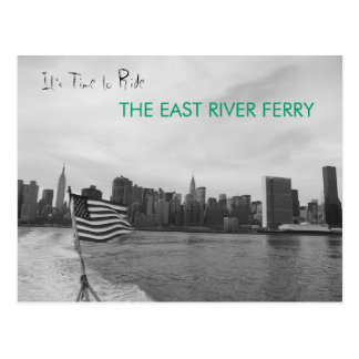 New York City - Ride the East River Ferry Postcard