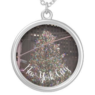 New York City Rockefeller Centre Christmas Tree Silver Plated Necklace